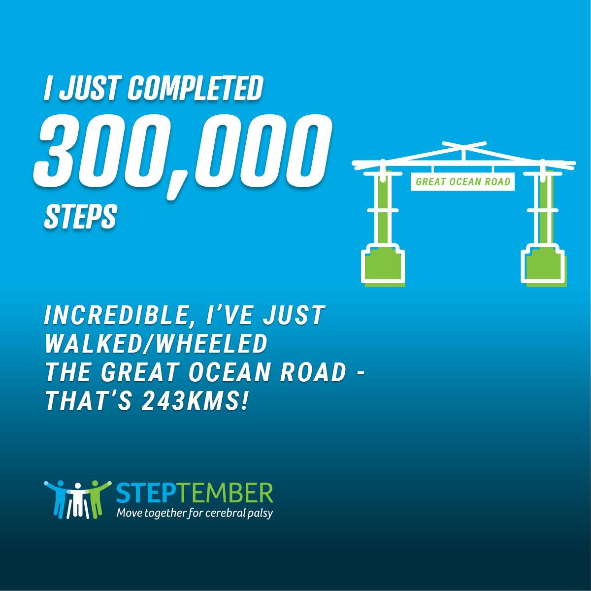 Social Post - 300,000 Steps