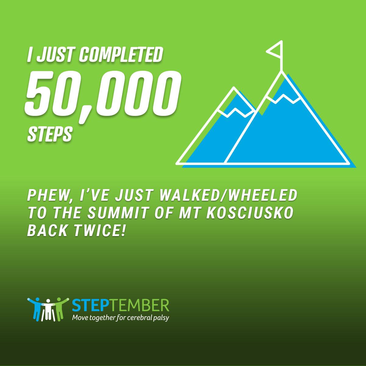 Social Post - 50,000 Steps
