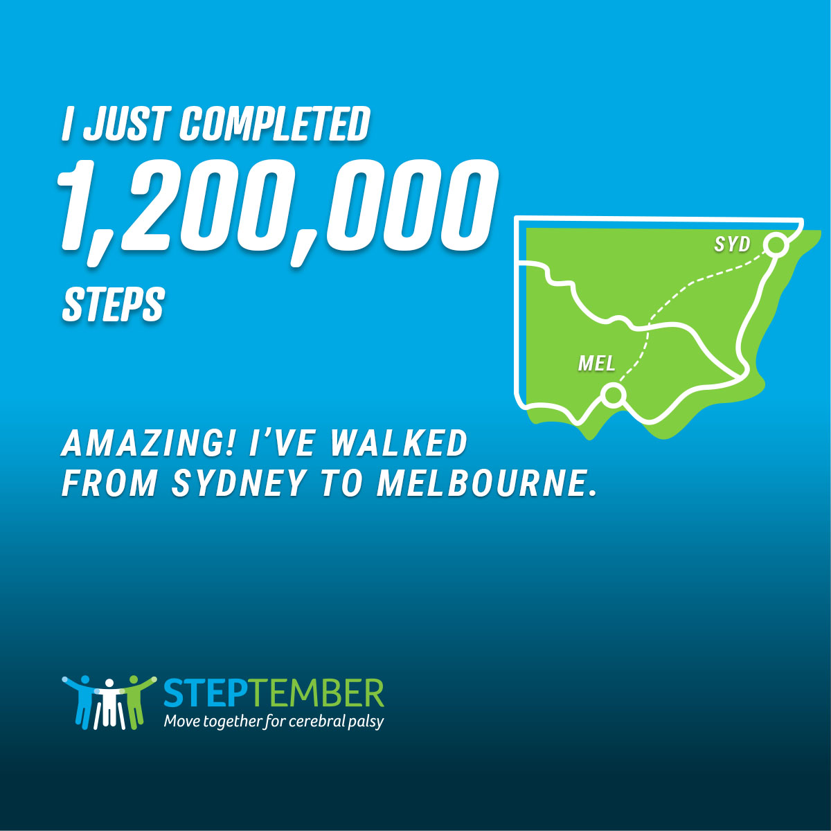 Social Post - 1,200,000 Steps