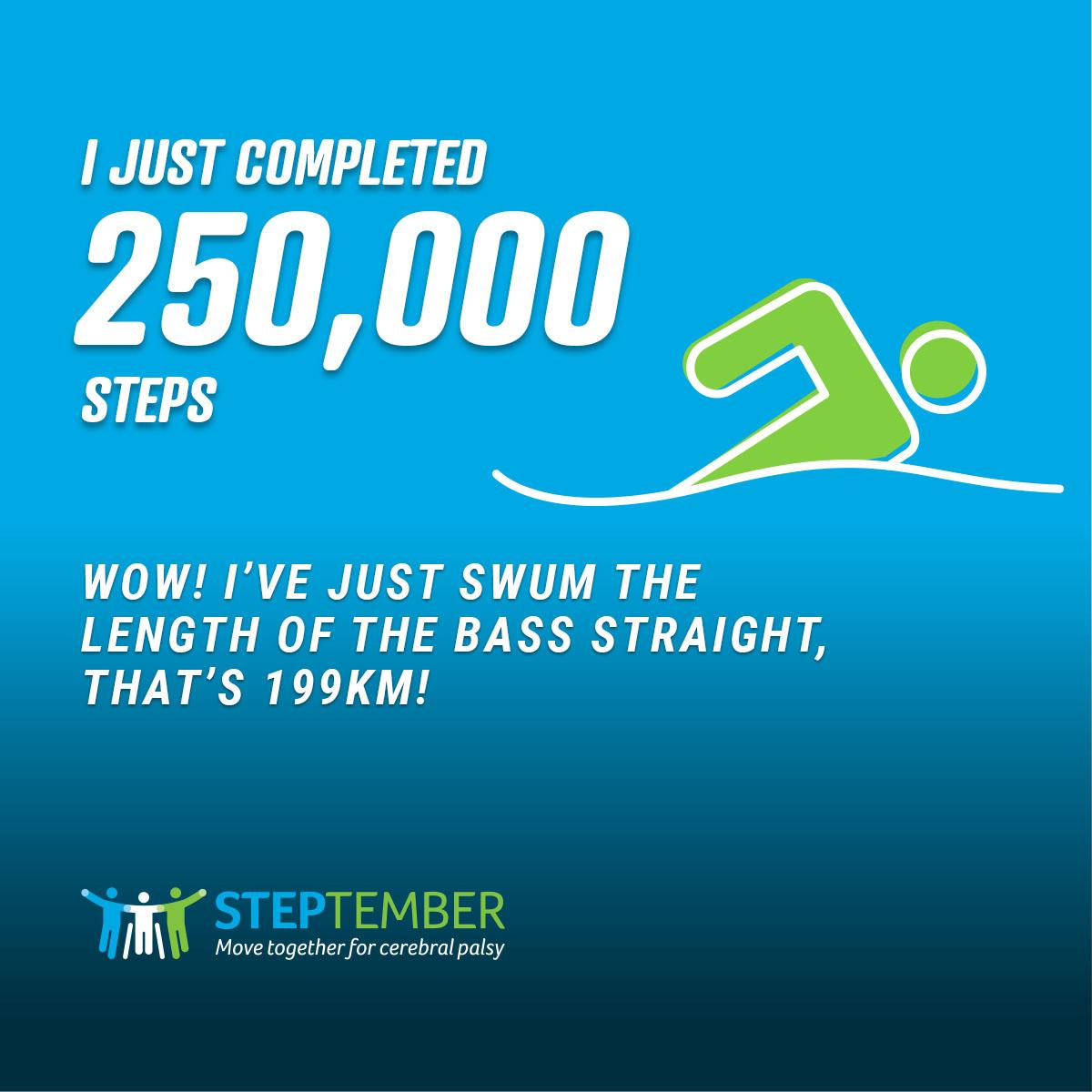 Social Post - 250,000 Steps
