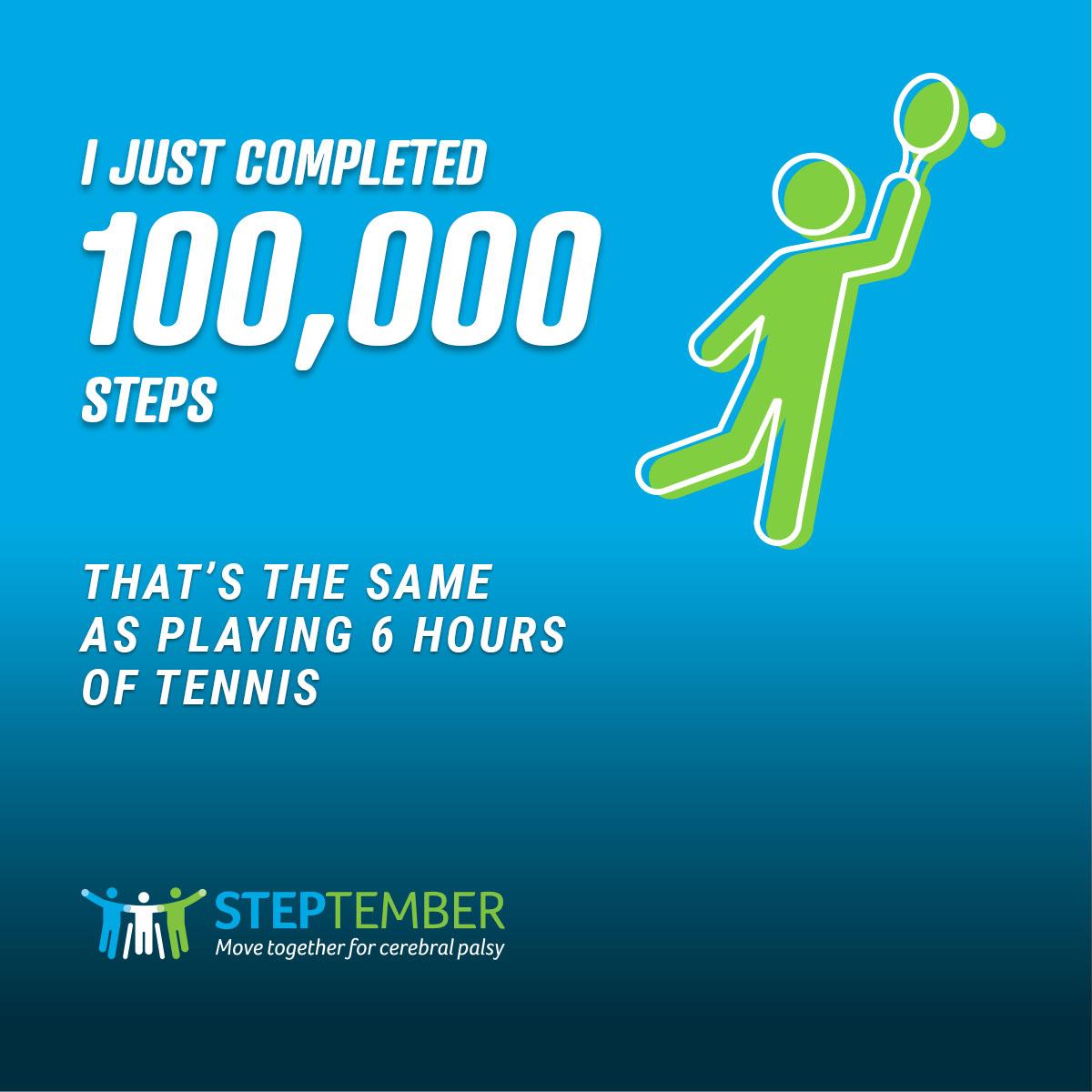 Social Post - 100,000 Steps