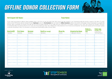 Offline Donor Collection Form
