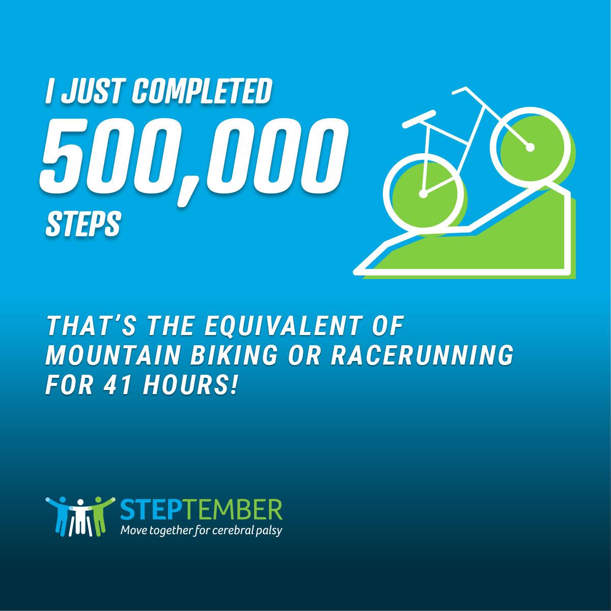 Social Post - 500,000 Steps