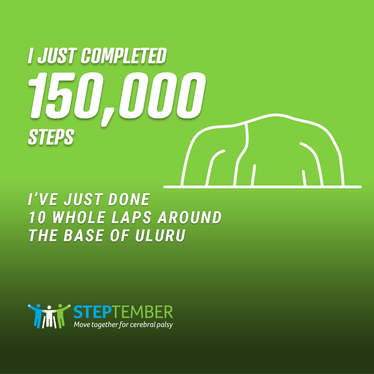 Social Post - 150,000 Steps