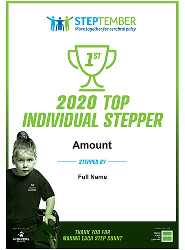 STEPtember Certificates - Top 3 Individual Steppers