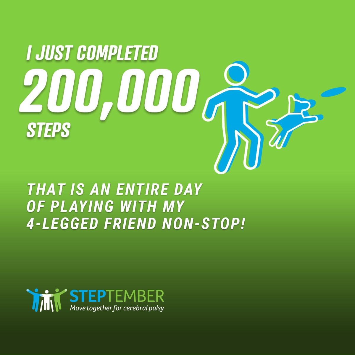 Social Post - 200,000 Steps